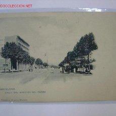 Postales: BARCELONA CALLE DEL MARQUES DEL DUERO. Lote 7339759