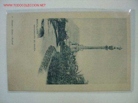 BARCELONA MONUMENTO DE COLON (Postales - España - Cataluña Antigua (hasta 1939))