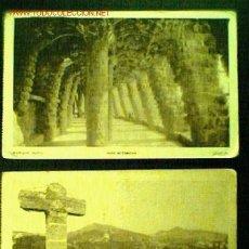 Postales: LOTE DOS POSTALES ANTIGUAS DEL PARQUE GÜELL DE EDICIONES ADOLFO ZERKOWITZ. Lote 20050822