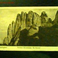Postales: POSTAL ANTIGUA DE MONSERRAT. PEÑASCOS DENOMINADOS ELS FLAUTATS. Lote 16902906
