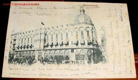 ANTIGUA POSTAL DE BARCELONA - 1904 CIRCULADA - GRAN HOTEL COLON (Postales - España - Cataluña Antigua (hasta 1939))