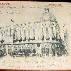Postales: ANTIGUA POSTAL DE BARCELONA - 1904 CIRCULADA - GRAN HOTEL COLON. Lote 534856