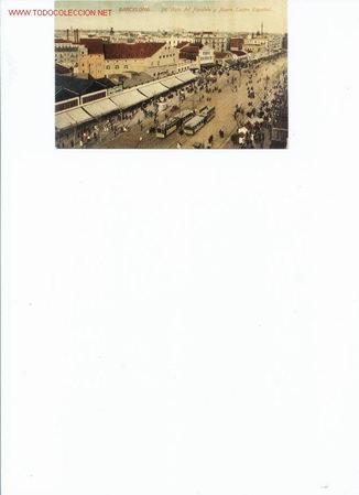 ANIMADA VISTA DEL PARALELO Y NUEVO TEATRO ESPAÑOL.BARCELONA.PRINCIPIO SIGLO XX (Postales - España - Cataluña Antigua (hasta 1939))