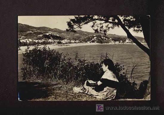 POSTAL DE LLORET DE MAR (GIRONA): VISTA PARCIAL (COM.PRAT NUM.93) (Postales - España - Cataluña Antigua (hasta 1939))