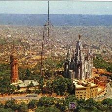 Postales: A1272 CATALUÑA BARCELONA CUMBRE DEL TIBIDABO SAGRADO CORAZON. Lote 3405491