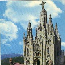 Postales: A1277 CATALUÑA BARCELONA TIBIDABO SAGRADO CORAZON. Lote 3405655