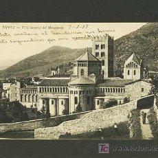 Postales: POSTAL DE RIPOLL (GIRONA): VISTA GENERAL DEL MONESTIR. Lote 4165271