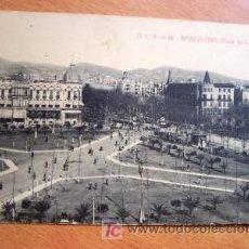 Postales: BARCELONA - PLAZA DE CATALUÑA - A.T.V. 16 - FECHADA MANUSCRITA EN 1907. Lote 24692135