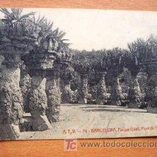 Postales: BARCELONA PARQUE GÜELL, PONT DE DALT - A.T.V. 74 - FECHADA MANUSCRITA AÑO 1907. Lote 17988663