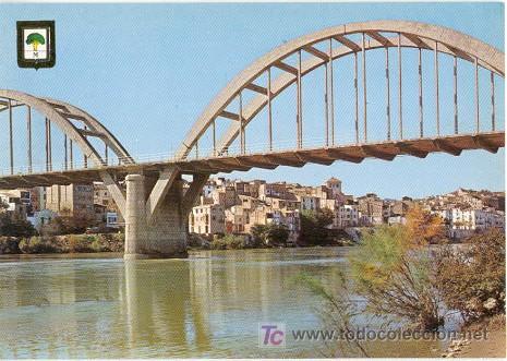 MORA DE EBRO (TARRAGONA) - EL RIO EBRO AL PASO POR MORA (Postales - España - Cataluña Moderna (desde 1940))