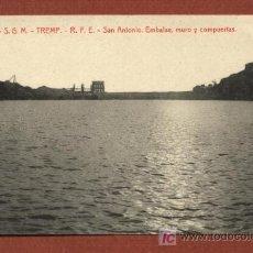 Postales: TREMP, LLEIDA. Nº 6. S.G.M. TREMP. R.F.E. SAN ANTONIO. EMBALSE, MURO Y COMPUERTAS. THOMAS.. Lote 23051247
