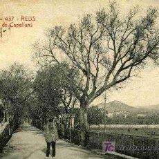 Postales: POSTAL DE REUS, PUENTE DE CAPELLANS CIRCULADA. Lote 4636335
