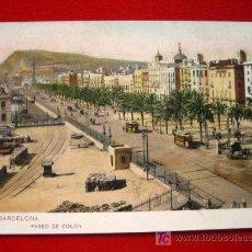 Postales: BARCELONA, PASEO DE COLÓN, TARJETA POSTAL CIRCULADA TP5279 . Lote 4790177