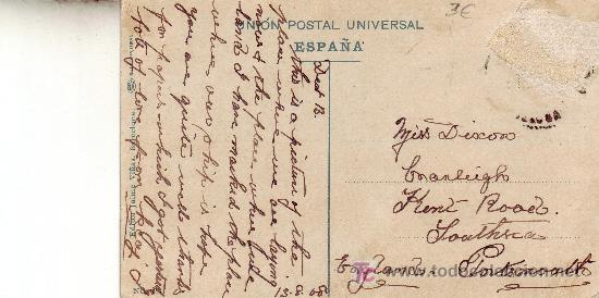 Postales: reverso postal - Foto 2 - 25008535