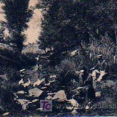 Postales: BALNEARIO DE VALLFOGONA DE RIUCORP. PESCANDO EN EL RÍO. VALLFOGONA DE RIUCORB. . Lote 4983597