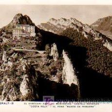 Postales: POSTAL DE BERGA- SANTUARI DE QUERALT-AMD LES MUNTANYES CASTELL BERGADA. Lote 4985052