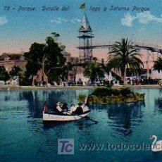 Postales: BARCELONA. PARQUE. DETALLE DEL LAGO Y SATURNO PARQUE (ED. VENINI). Lote 5104110