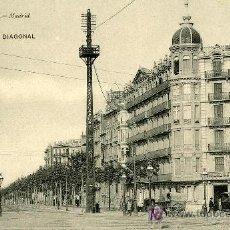 Postales: HAUSER Y MENET Nº 3007.- BARCELONA.- GRAN VIA DIAGONAL. Lote 20279513