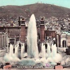 Postales: POSTAL DE BARCELONA, LA FUENTE MAGICA.CIRCULADA.VER FOTO ADICIONAL. Lote 24798404