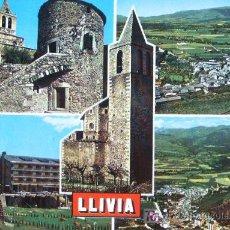 Postales: LLIVIA: GERONA. DIVERSOS ASPECTOS. POSTALES ESCUDO DE ORO. AÑOS 80. Lote 5416034