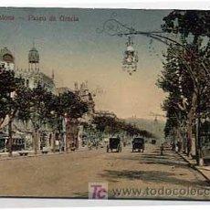 Postales: BARCELONA. PASEO DE GRACIA. . CIRCULADA. Lote 5424795