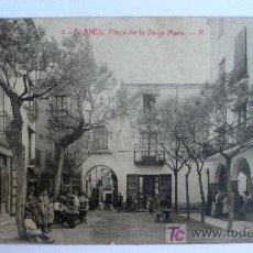 Postales: 4-BLANES-PLAÇA DE LA VERGE MARIA-R-5126 THOMAS.CON FIGURAS. LITOGRAFICA. ESCRITA. -VIB. Lote 26760131