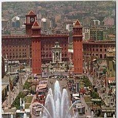 Postales: BARCELONA. PARQUE DE MONTJUICH, SURTIDOR GIGANTE. A. ZERKOWITZ. ESCRITA. Lote 5692669
