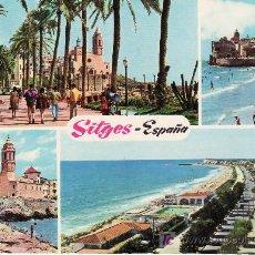 Postales: SITGES.PLAYA DE ORO. CIRCULADA.. Lote 20642983