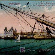 Postales: BARCELONA. PUERTA DE LA PAZ Y TINGLADOS DESDE EL ANTEPUERTO. (VENINI). Lote 6015246