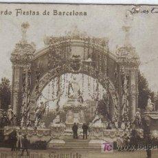 Postales: 151 - RECUERDO FIESTAS DE BARCELONA - PLAZA DE CATALUÑA TEMPLETE - AÑO 1910. Lote 27137258