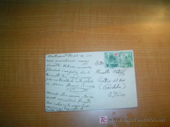 Postales: POSTAL MONTSERRAT CIRCULADA - Foto 2 - 6172235