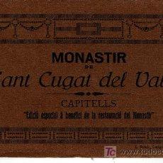 Postales: VENTE Y CINCO POSTALES MONASTIR DE SANT CUGAT DEL VALLES CAPITELLS EDICION L. ROISIN . Lote 6274730