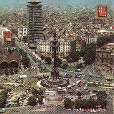 Postales: BARCELONA. COLON Y PUERTO. VISTA AEREA.. CIRCULADA.. Lote 6368807