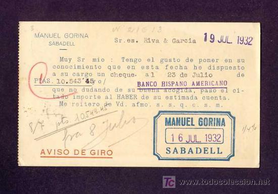 Postales: Postal de SABADELL (Barcelona): Tarjeta comercial de Manuel Gorina de 1932 (veure foto adicional) - Foto 2 - 7848663