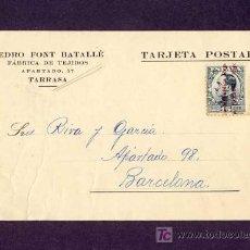 Postales: POSTAL DE TERRASSA (BARCELONA): POSTAL COMERCIAL DE PERE FONT BATALLÉ DE 1931 (VEURE FOTO ADICIONAL). Lote 6378716