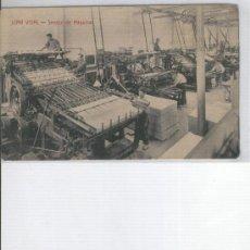 Postales: POSTAL DE LA FABRICA DE TEJIDOS DE BARCELONA. JUAN VIDAL. MAQUINAS TEXTILES. AÑOS 20 ?. Lote 6433528