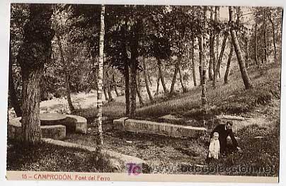 GIRONA. CAMPRODON. FONT DEL FERRO . FOTOTIPIA THOMAS. SIN CIRCULAR (Postales - España - Cataluña Antigua (hasta 1939))