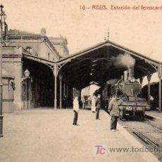 Postales: POSTAL DE REUS Nº10, ESTACION DEL FERROCARRIL DE M.Z.A.. Lote 6572812