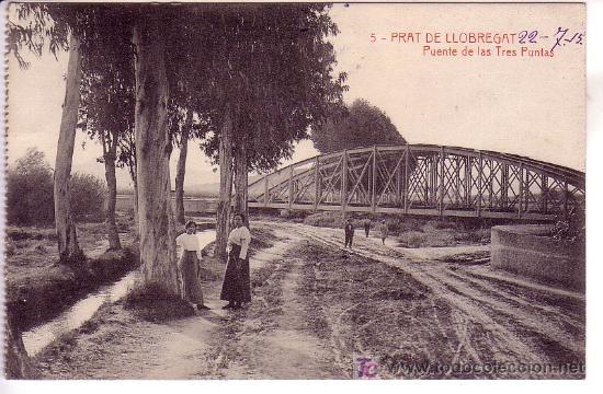 PRAT DE LLOBREGAT. POSTAL CIRCULADA (Postales - España - Cataluña Antigua (hasta 1939))