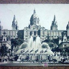 Postales: BARCELONA 596 PARQUE DE MONTJUICH PALACIO NACIONAL DEL ARTE. Lote 23869407
