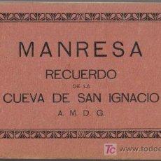 Postales: BLOCK 24 POSTALES MANRESA (BARCELONA), CUEVA DE SAN IGNACIO.. Lote 25581525