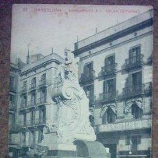 Postales: POSTAL ANTIGUA BARCELONA MONUMENTO A F. SOLER (PITARRA). Lote 23776749