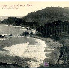 Postales: GERONA, LLORET DE MAR, SANTA CRISTINA, PLAYA, P19992. Lote 9731424
