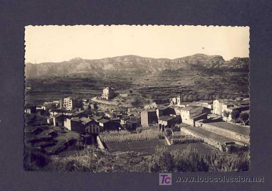 POSTAL DE SANT LLORENÇ SAVALL (BARCELONA): VISTA PANORÀMICA, AL FONS EL MONTCAU (EXCL.OLIVÉ NUM.18) (Postales - España - Cataluña Antigua (hasta 1939))
