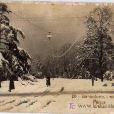 Postales: 20 BARCELONA, NEVADA PARQUE, L.ROISIN, FOTOGRAFICA. Lote 6789221
