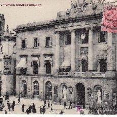 Postales: BARCELONA. CASAS CONSISTORIALES. CIRCULADA.. Lote 26464004