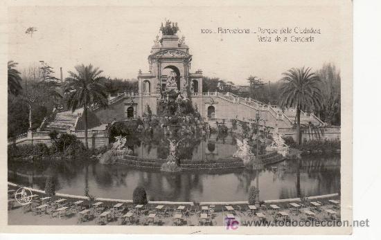 BARCELONA. PARQUE DE LA CIUDADELA. SELLO DE LA REPUBLICA.CIRCULADA. (Postales - España - Cataluña Antigua (hasta 1939))
