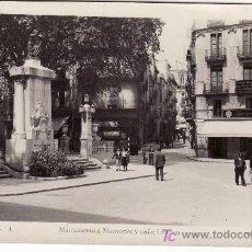 Postales: FIGUERAS. MONUMENTO A MONTURIOL Y CALLE GERONA.FOTOS MELI. CIRCULADA. 1943. Lote 25234486