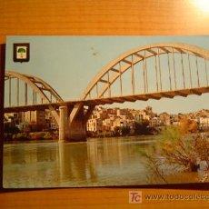 Postales: POSTAL MORA DE EBRO (TARRAGONA) EL RIO EBRO AL PASO POR MORA. Lote 21866137