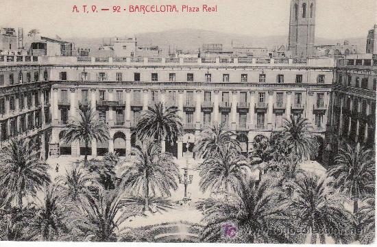 BARCELONA.PLAZA REAL. CIRCULADA. VER FOTO ADICIONAL. (Postales - España - Cataluña Antigua (hasta 1939))